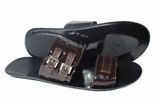Giovanni Conti  523 Italian mens brown print leather sandals with buckles