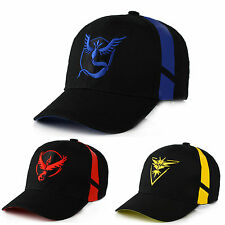 Men Boy Pokemon Team Valor Mystic Instinct Sun Cap Baseball Trainer Snapback Hat