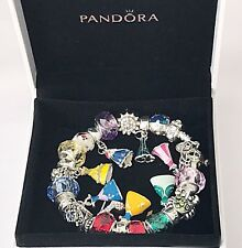 Authentic PANDORA Sterling Silver Bracelet w/ Disney Princesses European Charms