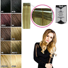 """Rush Silky Luxati Straight Remy 100% Human Hair Extensions Weft in 14"""" 18"""" & 20"""""""