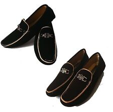 Mens Moccasins Faux Loafers Suede Look  Boat Driving Shoes Casual UK Size