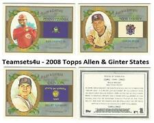 2008 Topps Allen and Ginter States Baseball Set ** Pick Your Team **