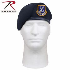Rothco Inspection Ready Beret w/ USAF Flash - Midnight Navy Blue Air Force Beret