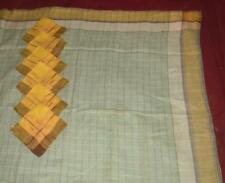 Vintage Czech ? Plaid Linen Square Tablecloth 50 x 52 with 6 Napkins