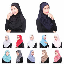 Fashion Muslim Women Soft Scarf Islamic Hijab Inner Cap Long Wrap Headwear Shawl