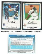 2011 Bowman Draft Prospects Baseball Set ** Pick Your Team **