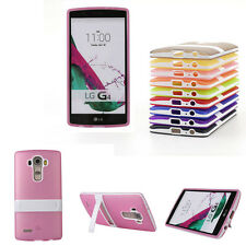 New TPU Case Clear Cover Soft Gel Silicone Hybrid Impact Kickstand For LG G4 G3