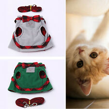 PET CAT HARNESS JACKET WALKING TRAINING HAND GRIP STRAPS LEASH BELT LOVELY