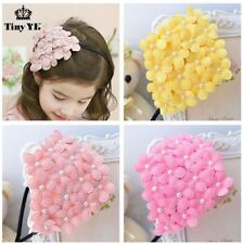Lovely Pearl Alice band Flower hair band Floral Headband Party head wear Girl UK