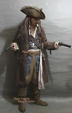 Pirates of the Caribbean Captain Jack Sparrow Adult Costume Cosplay Full set