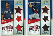 2011 Bowman 2010 All-Star Futures Game Triple Jersey Cards #'d to 99 (You Pick)