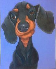 dachshund painting fine art giclee print picture