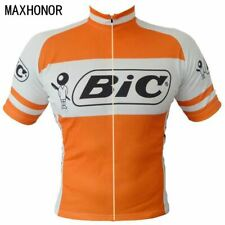 BIC Retro Cycling Jersey Vintage Team Riding Bike MTB Road Short Sleeve