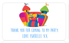 PERSONALISED STICKERS LABELS ADDRESS PARTY SWEETIE CONES BOUNCY CASTLE 2