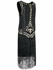 PrettyGuide Women's 1920s Vintage Sequin Full Fringed Deco Inspired Flapper