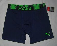 "NWT Mens PUMA 6"" Microfiber Sport Stretch Boxer Brief Underwear - size M"