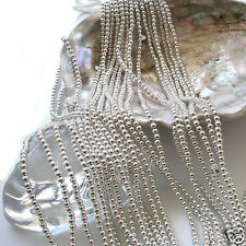 Japanese Silver Faux/Acrylic/Plastic Pearls Beads Strands 2,3,4,5,6,8,10,12mm