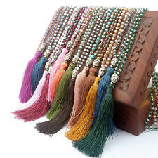 Bohemia Pendant 1Pcs Weaving Women Long Necklace Jewelry Handmade bead Tassel