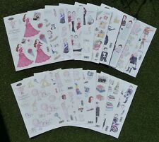A4 Decoupage Die Cut Sheets - Toppers - Children - Motorbikes - Men - Sport