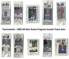 1985 All-Star Game Program Inserts Baseball Set ** Pick Your Team **