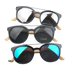 1021 Plastic colorful hand made UV400 optical frame bamboo temple sunglasses
