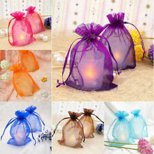100x Organza Gift Bags Jewellery Candy Packing Pouches Wedding Party Favour XMAS