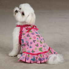 Dog Cat Apparel Clothes East Side Collection Pink  Butterfly Garden Dress