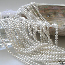 Japanese White Faux/Acrylic/Plastic Pearls Beads Strands 2,3.5,5,6,8,10,12mm