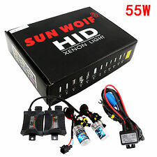 HID Xenon Light 55W Conversion Bulbs Ballasts KIT H1 H3 H4 H7 H11 H13 9006 9007