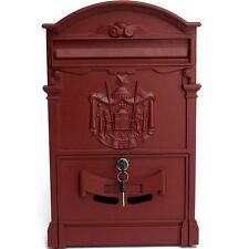 Postbox Mail Box Royal Aluminium Lockable Mailbox Letter Outdoor Wall Post Color
