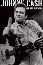 Johnny Cash at San Quentin Middle Finger POSTER