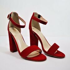 High Heel Ankle Strap Peep Toe Platform Shoes Womens Sizes New Block Sandals