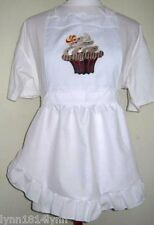 GIRLS KIDS CUPCAKE PINI APRON Made fit up to 12 years Can name & many designs