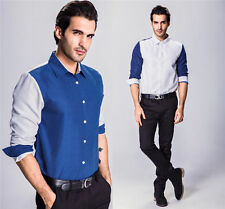 Stylish Mens New Luxury Long Sleeve Casual Shirt Slim Fit Dress Shirts Tops w