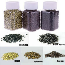 1000PCS Hot Silicone Micro Link Ring Beads Feather Hair Extensions 5 Colours GS