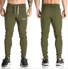Men Slim Fit Sports Gym Pants Jogging Running Trousers Tracksuit Sweatpant Black