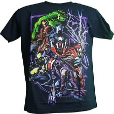 Marvel Team Up Thor Hulk Iron Man Wolverine Captain America Adult Men's T-Shirt