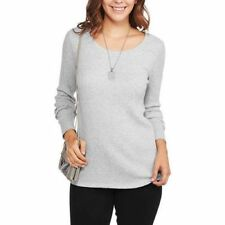 Faded Glory Women's Ribbed Long Sleeve Scoop neck T-Shirt ,choose one Diff color