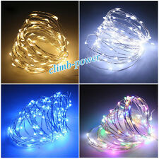 20/40/100 LED Bendable Waterproof Micro Wire Fairy String Lights Christmas Party