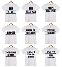 Stag Party T-Shirt BUY 4 GET STAG'S TEE FREE Stag Do T-Shirt Groom T-shirt