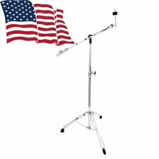2X Cymbal Boom Stand Double Braced Legs Drum Hardware Arm Chrome Percussion New