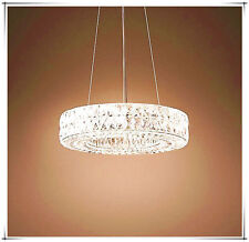 Dining room modern chandelier crystal lamp contemporary led ring pendant light