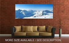 Wall Art Canvas Print Picture Mountains Peaks Snow Winter-Unframed