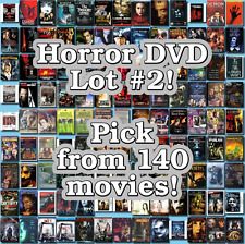 Horror DVD Lot #2: 140 Movies to Pick From! Buy Multiple And Save!
