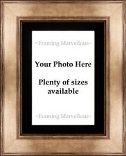 Metallic Bronze Effect Photo Picture Frame with Black Mount - Choose size