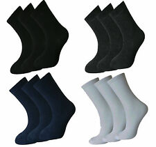 NEW GIRLS BOYS UNISEX CHILDREN KIDS PLAIN COTTON MIX ANKLE SCHOOL SOCKS ALL SIZE