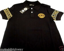 HIGH SALE New WT Black Mens Medusa Gold POLO Short Sleeve T-Shirt-S-M-L-XL-XXL
