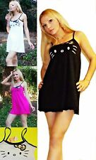 NWT Sanrio Hello Kitty KITTY Face Lounge / Swim Cover Dress<S,M, 4 colors