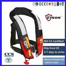 Manual Inflatable PFD Life Jacket 150N Saving Vest Eyson for Adult
