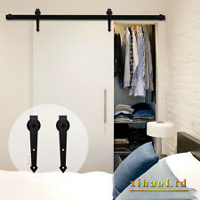 2.5-20FT Interior Sliding Barn Wood Door Hardware Closet Track Kit Single/Double